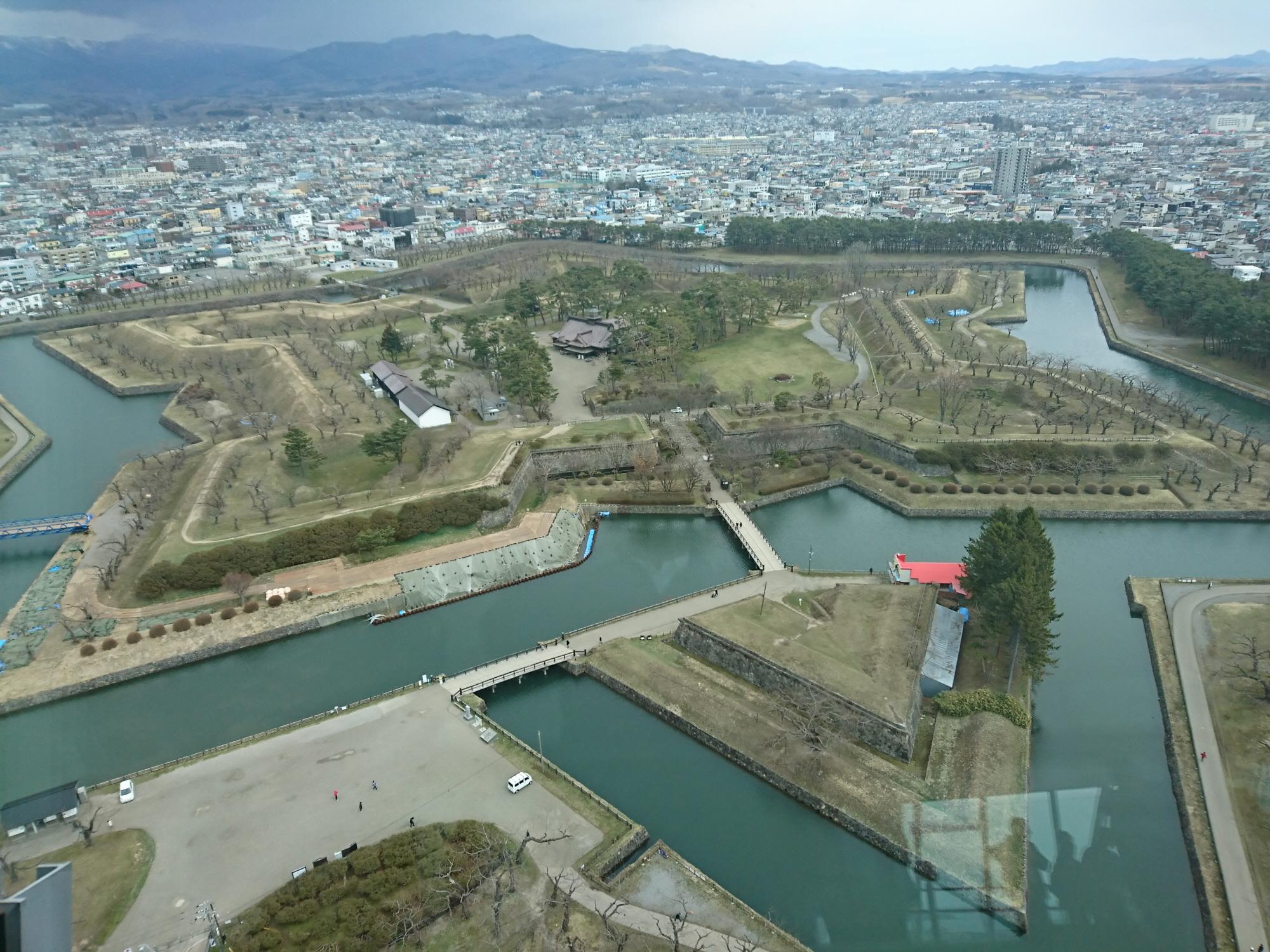 2000-五稜郭タワーから見た五稜郭